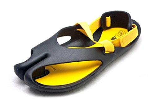 Fortuning's JDS doux chaussures de plage sandales nouveaux hommes Noir