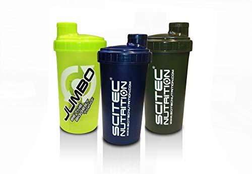 Scitec Nutrition 3 Shaker Set 1 700 ml mit Sieb 3 Shaker