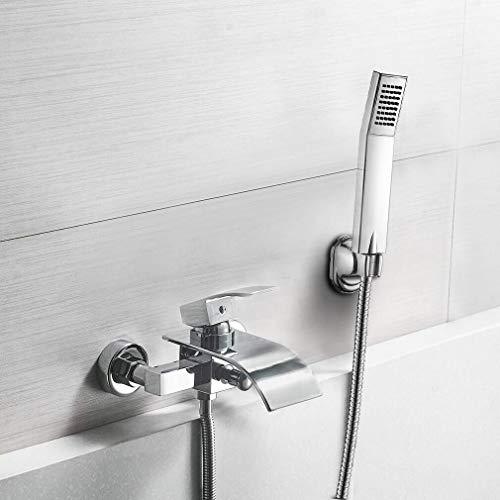 BONADE Duschset Regendusche Chrom Duscharmatur Wasserfall Wannenarmatur Badewanne Badewannenarmatur edelstahl mit Handbrause für Badezimmer - Wasserfall Badewanne