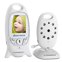 Babyphone mit Kamera Baby Überwachung Digital dual Audio Funktion wireless Baby Monitor (Temperatursensor, Schlaflieder, Nachtsicht, Gegensprechfunktion), 2.0 Zoll LCD