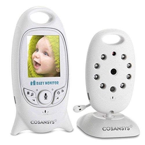 Baby Monitor Vigilabebés Intercom Digital + 2.0'' Video Camera LCD + VisióN Nocturna + Monitoreo de Temperatura + VSistema de IntercomunicacióN de 2 VíAs