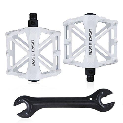 GoingMen Fahrrad Radfahren Bike Pedale, Neue Aluminiumlegierung Anti Skid Mountain Pedale für 9/16 Zoll mit kostenloser Installation Tool (Neopren Halb-gesichtsmaske)