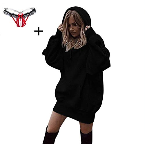 (Beikoard Damen Solide Kapuzenpullover Hoodies Pullover Mantel Hoody Sweatshirt Sport Hoodies Lang Sweatshirt)