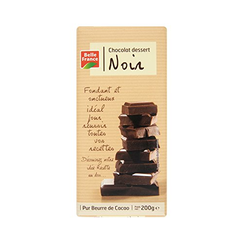 Belle France Chocolat Dessert Noir 52% Cacao 200 g - Lot de 10
