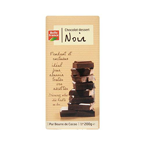 Belle France Chocolat Dessert Noir 52% Cacao 200 g - Lot de 10
