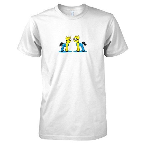 TEXLAB - My little Bananas - Herren T-Shirt, Größe L, weiß (Despicable Me 2 Minion Kostüm Tshirt)