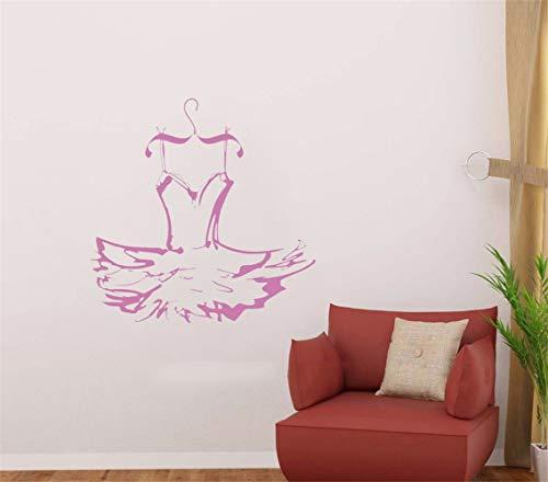 Wandaufkleber Kinderzimmer Kleid Ballerina Wall Dance Kostüm Aufkleber Sticker Decor Home Mädchen Zimmer Schlafzimmer Wohnzimmer Design (Blue Dance Kostüm Kleid)