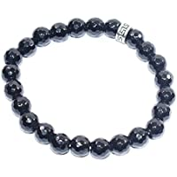 Bracelet Black Tourmaline Diamond Cut 8 MM Birthstone Handmade Healing Power Crystal Beads preisvergleich bei billige-tabletten.eu