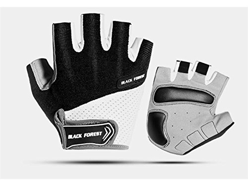 Plsonk Haushalt Rutschfeste Fahrradhandschuhe Atmungsaktive Outdoor Sport Handschuhe Straße Mountainbike Halbe Fingerhandschuhe für Frauen Männer (XL) für die Arbeit
