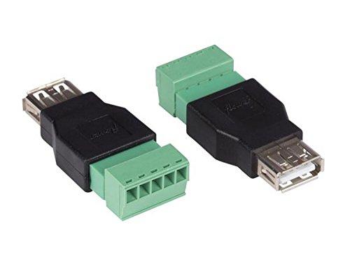 VELLEMAN - CV052 2 X USB A-Buchse Auf 5-Pol. Lüsterklemme 178210 Usb-buchse