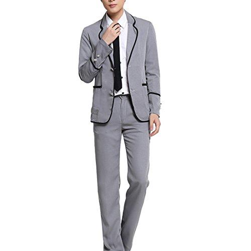 partiss hommes Japon Uniforme Scolaire Anime Cosplay Costume Veste pour femme à manches longues avec pantalon pour femme N°2