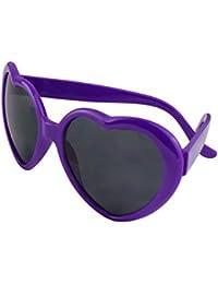 Funie Fashion rétro drôle d'été amour coeur forme Lolita lunettes de soleil cadeaux (blanc) MdqcDXaCb