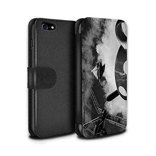 STUFF4 PU-Leder Hülle/Case/Tasche/Cover für Apple iPhone 7 / London Overground Muster / Vorstellen Kollektion Lust Tasse Tee