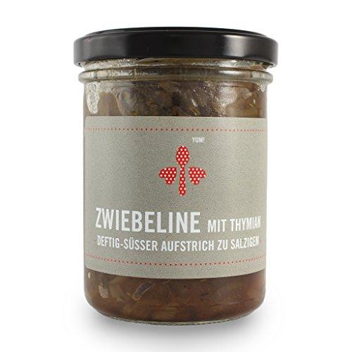 Zwiebeline Onion Jam (Zwiebelmarmelade) mit Thymian - 200 g Glas