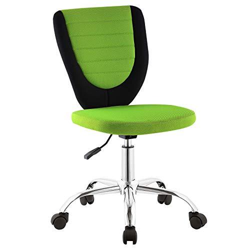CARO-Möbel Kinderdrehstuhl Future Schreibtischstuhl Drehstuhl in schwarz/grün, höhenverstellbar -