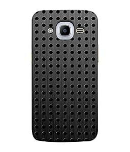 Fuson Designer Back Case Cover for Samsung Galaxy J2 (6) 2016 J210F :: Samsung Galaxy J2 Pro (2016) (Fabric Design Flower Leather Steel)