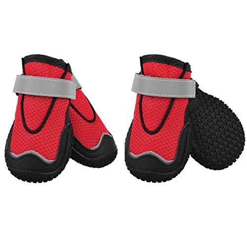 OLADO Stivali da Trekking per Animali Domestici Protezioni per Le Zampe Traspiranti Set di 10 Pezzi Protezioni per Le Zampe Stivali da Cane con Suola Antiscivolo da Passeggio