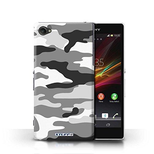 Kobalt® Imprimé Etui / Coque pour Sony Xperia Z1 Compact / Vert 4 conception / Série Armée/Camouflage Blanc 2