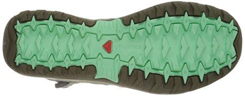 Salomon - Ellipse Cabrio, Scarpe sportive Donna Grigio/verde (Dark Titanium/Titanium/Lucite Green)