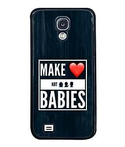 PrintVisa Designer Back Case Cover for Samsung Galaxy S4 Mini I9195I :: Samsung I9190 Galaxy S4 Mini :: Samsung I9190 Galaxy S Iv Mini :: Samsung I9190 Galaxy S4 Mini Duos :: Samsung Galaxy S4 Mini Plus (White Text Heart Symbol Bright Background Paintfinish)