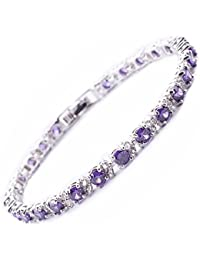 Gold Plated Stainless Steel Tennis Bracelet Made with Swarovski Elements of Length 17.5-22.5cm Extension 328902