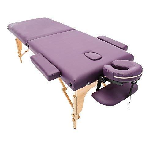 Massage Imperial® - Tragbare Massageliege Charbury 13kg - Violett - 2 Zonen