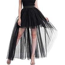 34f47173e VJGOAL Mujeres Verano Moda Casual Color sólido Malla Tul Falda Burbuja  Princesa Falda Fiesta Mini Falda