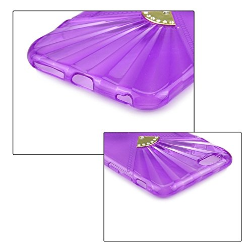 GHC Cases & Covers, 0.6mm Ultra-dünne doppelte Ventilatoren Diamant-verkrustete TPU Fall für iPhone 6 u. 6S ( Color : Purple ) Purple