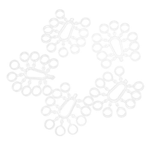 FLAMEER 5X Karpfen Pellets Elastische Bänder Klare Boilies Pellets Gummibänder - Rund