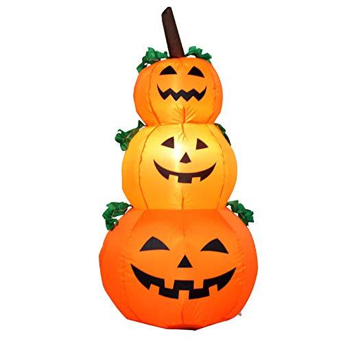 (XIAOLONGY Halloween Garten Layout Requisiten Traditionelle Kürbis Lampe Dekoration Aufblasbare LED Licht Kürbis Aufblasbar,PumpkinLight)