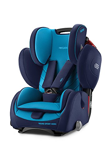 Recaro Young Sport Hero Group 1/2/3 Car Seat (9-36kg), Xenon Blue