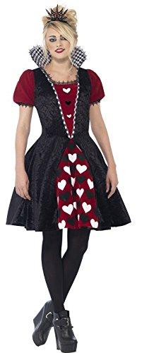 Teen Deluxe Dark Red Queen Halloween Fancy Dress Costume