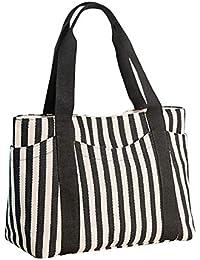 d3c3f83514ff48 Sima Palace-A373 Womens Handtaschen, Schulter Handtaschen Striped Canvas  Tote Crossbody Taschen Für…