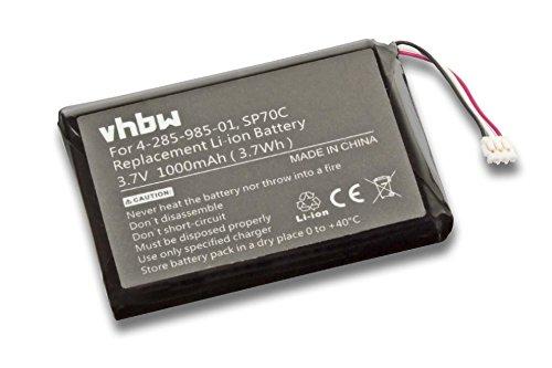vhbw Akku passend für Sony Playstation Portable PSP Street E1000, E1002, E1003, E1004, E1008 ersetzt Sony SP70C, 4-285-985-01 (Li-Ion, 1000mAh, 3.7V) (E1000 Psp Spiele)