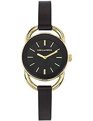 Montre Femme Ted Lapidus noir doré cuir noir - Urban Chic - A0681PNIN -