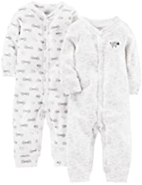 Simple Joys by Carter's 2-Pack Neutral Cotton Footless Sleep and Play Bebé-Niños
