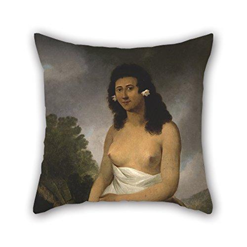 ber-Portrait Of poedooa, Tochter des Orea, King of ulaitea, Gesellschaft Inseln kissenrollen 45,7x 45,7cm/45von 45cm Geschenk oder Dekor für Küche Kids Mädchen Hom ()