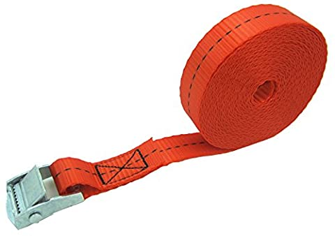 WINGONEER 1in wide x 16ft long Lashing straps up To 550lbs 1pcs - Red