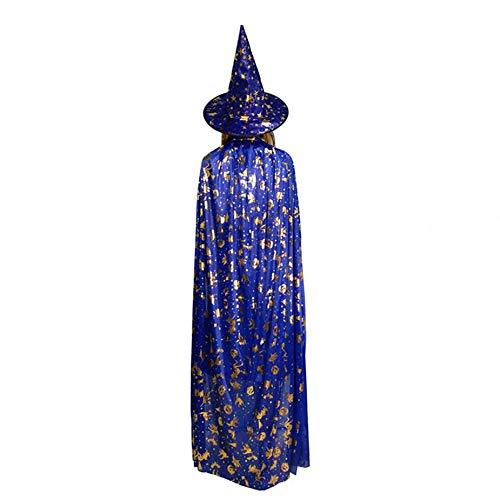 Nowakk Halloween Kürbis Cape Mantel Ghost Festival Kinder Erwachsene Maskerade Heißprägen Hexe Fünf Sterne Hut