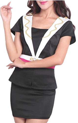 chenshijiu Women's Iris Massage Hairdressing Uniform Beauty Clothing Skirt Set