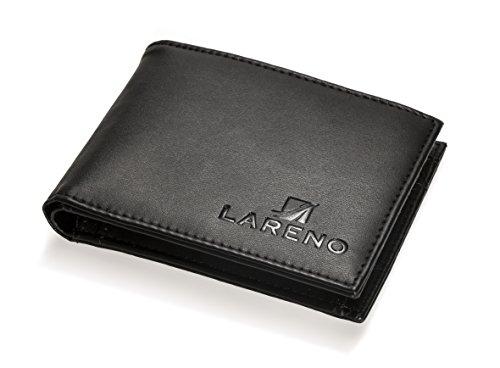 Hochwertige Herrengeldbörse in schwarz, elegantes und klassisches Design -