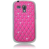Xtra-Funky Custodia Protettiva Strass e Effetto Cromato per Samsung Galaxy S3 Mini i8190  - Hot Rosa