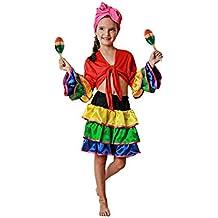 Costumizate! Disfraz de Brasileña Talla 10-12 Especial para niños Fiestas de Disfraces o