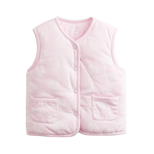 Marc janie Baby Toddler Girls' Outerwear Warm V Collar Quilted Vest Cotton-Padded Waistcoat