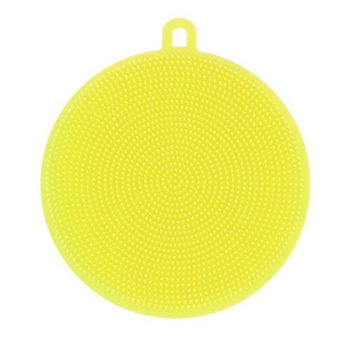 (Hot. ღ ninasill ღ Silikon Gericht Waschen Schwamm Scrubber Küche Reinigung Antibakteriell Werkzeug Casual 11.5*1.5cm/4.53