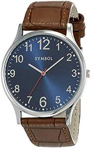 Amazon Brand - Symbol Men's Analog Blue Dial W