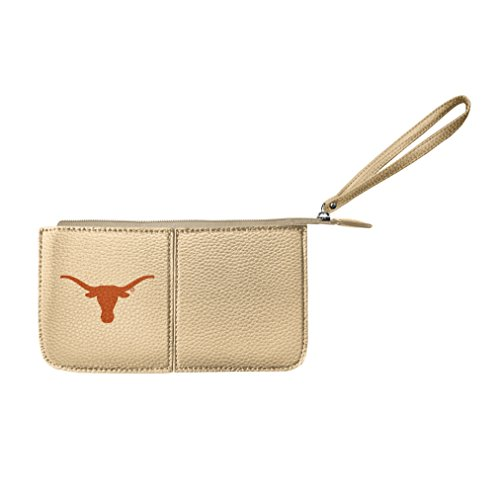 Littlearth Damen NCAA Texas Longhorns Pebble Wristlet, Gold, 20,3 x 10,2 x 2,5 cm -