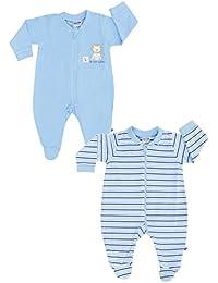 Jacky Baby Jungen Schlafanzüge langarm 2er-Pack blau 321710