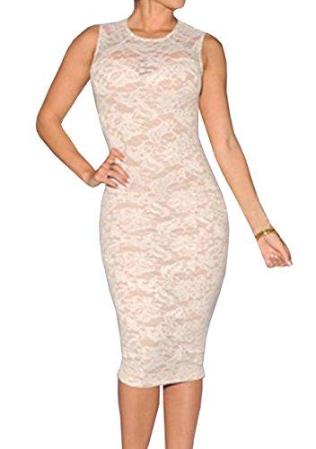 Dissa® FOB6974 femme Robes de Soirée cocktail Blanc