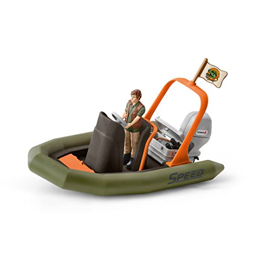 Preisvergleich Produktbild Schleich 42352 - Schlauchboot mit Ranger - Spielzeug